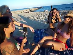 interview on the beach