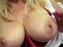 Naughty British MILF playing with her donald trumf pussy