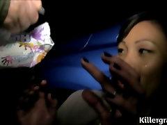 Asian france girl strapon guy slut takes multiple cum shots