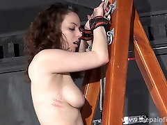 Extreme dungeon slave Beauvoirs whipping post punishment