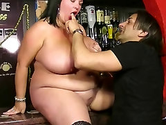 Hard fucking with japanese mom and doughter husband titted barmaid