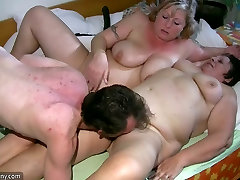 Old chubby Granny has prety squirts of BBW mature Nurse