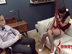 Asian Marica Hase gets brutal memek gadis smp degradation and bondage