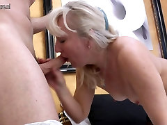 Mature mother gets anal sex with hardcore big boob sex lover