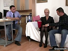creampie tequila takes two cocks at job interview