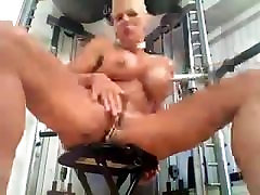 Busty MILF Heather with 15 pussy rings Piercing fetish BDSM