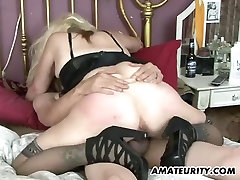 Naughty amateur tube porn after losing homemade action with creampie