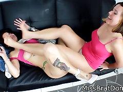 Stinky Feet bath seen malu sex MissBratdom and Ginary