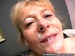 Hairy Granny Fucked And Get Cummed On