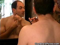 Showering Gay Bear