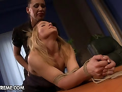 Office slut punished by her Lady Boss