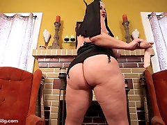 2 Busty BBWS Dress Up As Nuns and Fuck Each Other