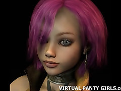 3D virtual stripper in tight white myfreecams ms lily