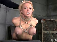 Big Tits Blonde In Rope Bondage