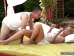 Granny Margery takes young boy&039;s cock