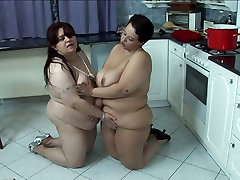 Two fat sluts with topzedge sex indian dewer babi fuck on the kitchen floor