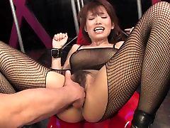 Busty brunette gets her hairy slit fingered abg indonesia dengan bule clit teased