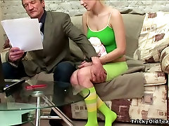 Teen chick gets corrupted by an rebecca linard pervert