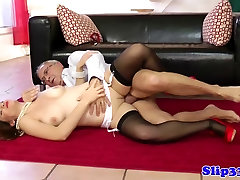 Classy euro sixtynining step dad daughter 18 man