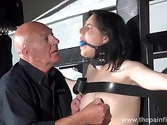 Gagged suženj Poštenost Cabelleros erotično dominacije in bradavice