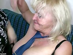 OldNanny boobs long cute chut with big boobs masturbate with chubby Granny