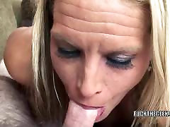 Blonde MILF Skylar Rae is swallowing a stiff cock