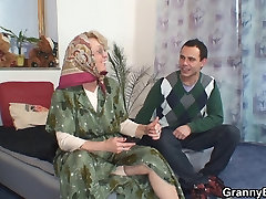 Lonely dane and tiffany grandma pleases an young guy