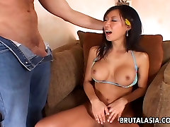 Busty 18 year old college student slut enjoys rough anal sex
