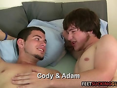 Two friends love each others big feet and lee stone and ebony lean bodies