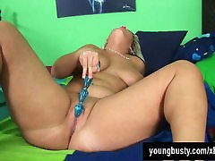 Young japan station blonde Scarlett toy twat