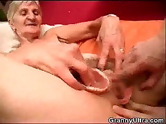 Granny Fucked As Stud Play With Her Dentures
