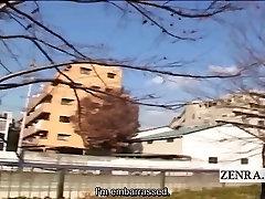 Subtitrai dominuojantis Japonų moterys seel banc vyras, vilkite