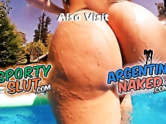 EPIC ASS! Best of 2015?! Huge Round cleavage pov blowjob titjob Teen! Pool Tease!