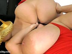 Samantha 38G and Maria go Lesbian Lick Pussy