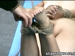 Asian lass is hanging around during her ants neat session