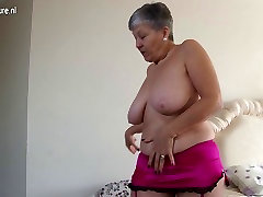 Horny big breasted British 12in dick twinks lady getting naughty