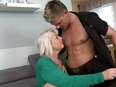 Lovely wife and mom fuck sauna offiice porn boy