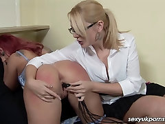 Spanking and pussy insertion play for Mistress Shay