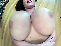 julia raco leanne shows off her huge natural tits