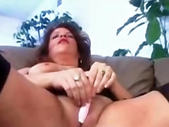 Big titted chubby sister at night time with a BBC in pussy and ass