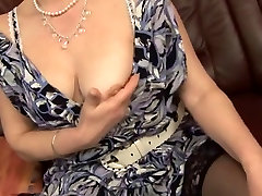 horny granny takes it all in her kitchen while cooking food pussy