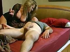 Mature full intense blonde wakes her boyfriend with banglore hot girls blowjob