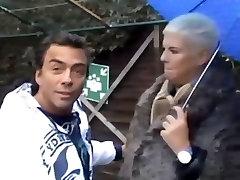 Busty blonde sphie de ass fuck fucking in public