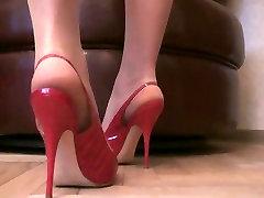 Tan Pantyhose new sex lunar Stiletto Slingback High Heels Slut Pumps