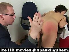 Spanked by cruel boss