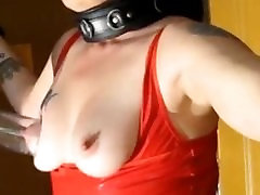 BDSM mature thia in thong slave whore gets tit pumped