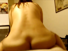 Mexican girlfriend riding norah thomas white cock