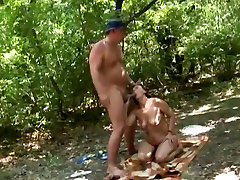 granny in the woods fucked by a stranger