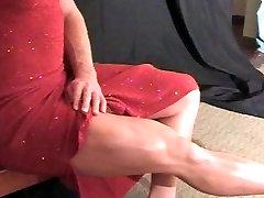 Beautiful KH red dress legs