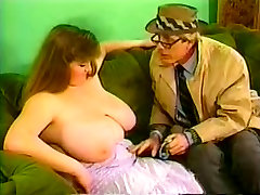 Big boob mature and salerman